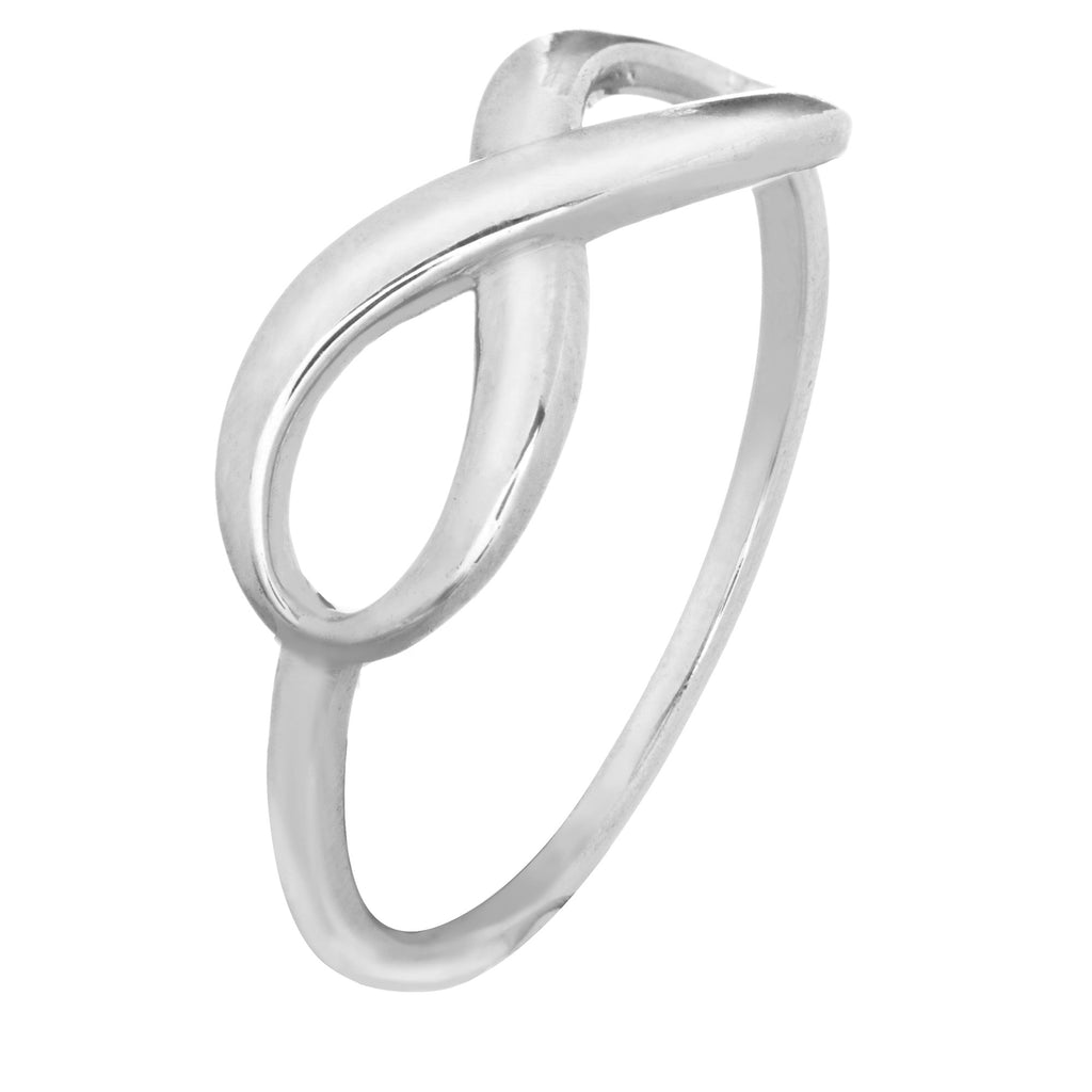 14k White Gold Infinity Ring Plain Polished Finish