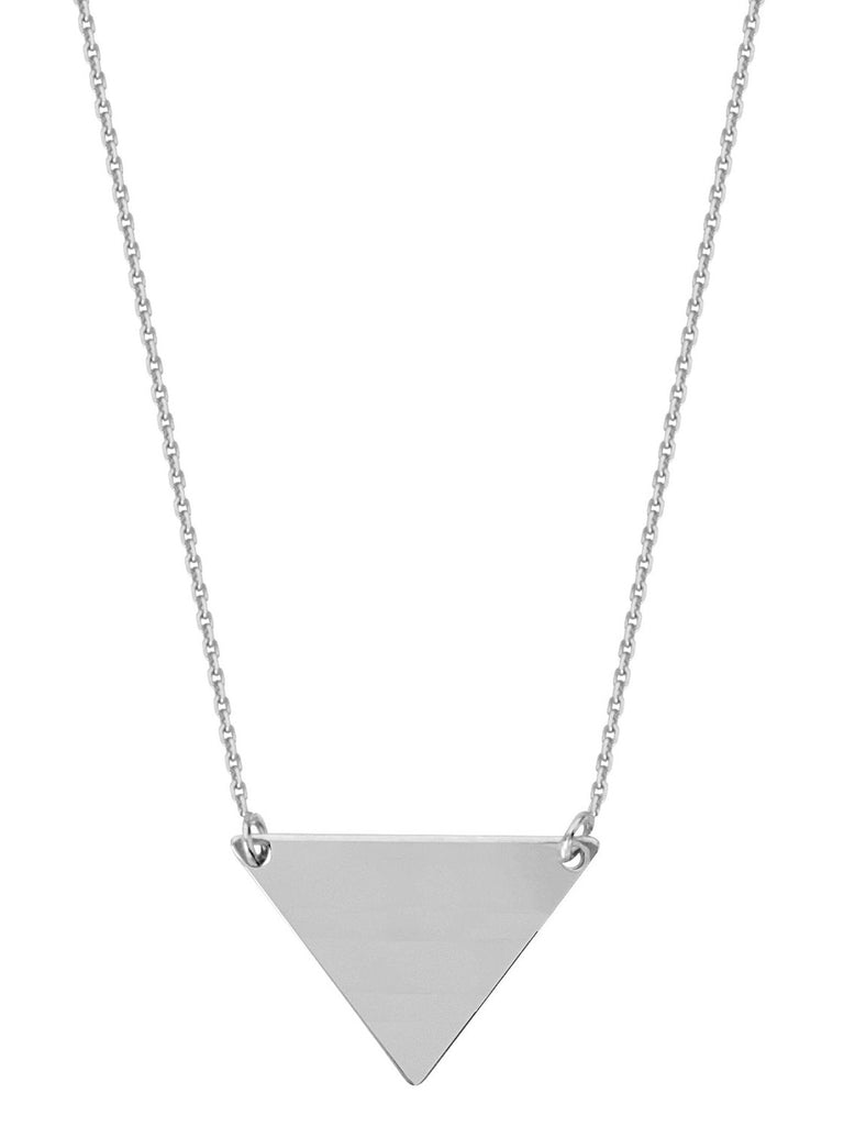 Triangle Necklace Rhodium-plated Sterling Silver Adjustable Length