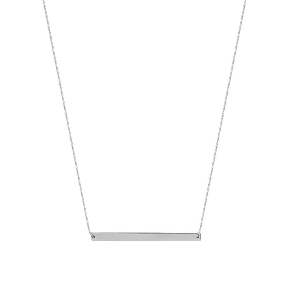 Bar Necklace 14k White Gold - East 2 West
