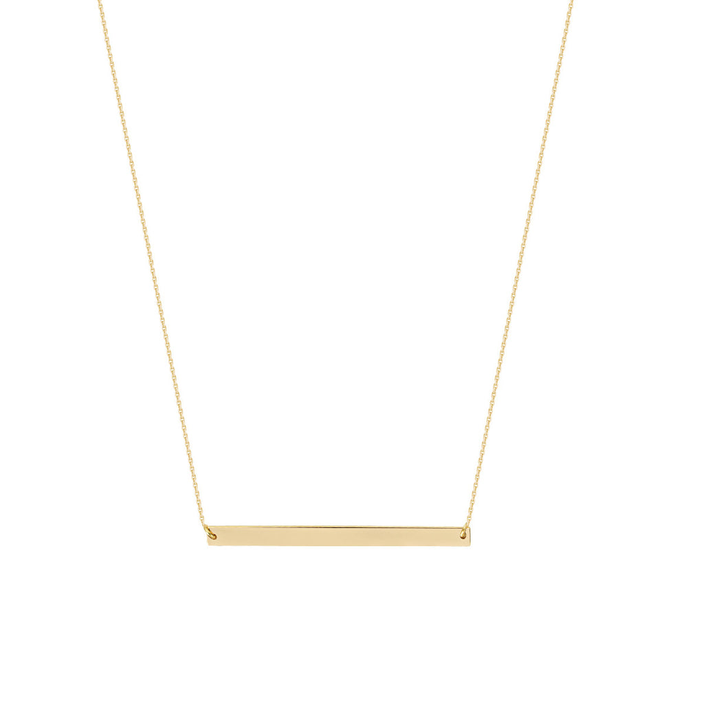 Bar Necklace 14k Yellow Gold - East 2 West