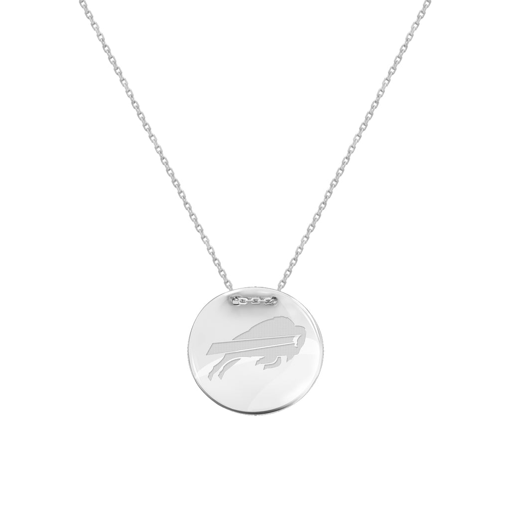 Buffalo Bills Necklace Licensed NFL Team Circle Pendant Sterling Silver