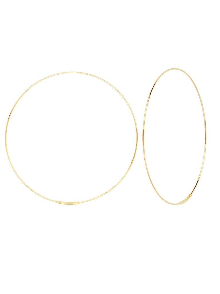 Hawley Street 14k Yellow Gold Wire Hoop Earrings 60mm