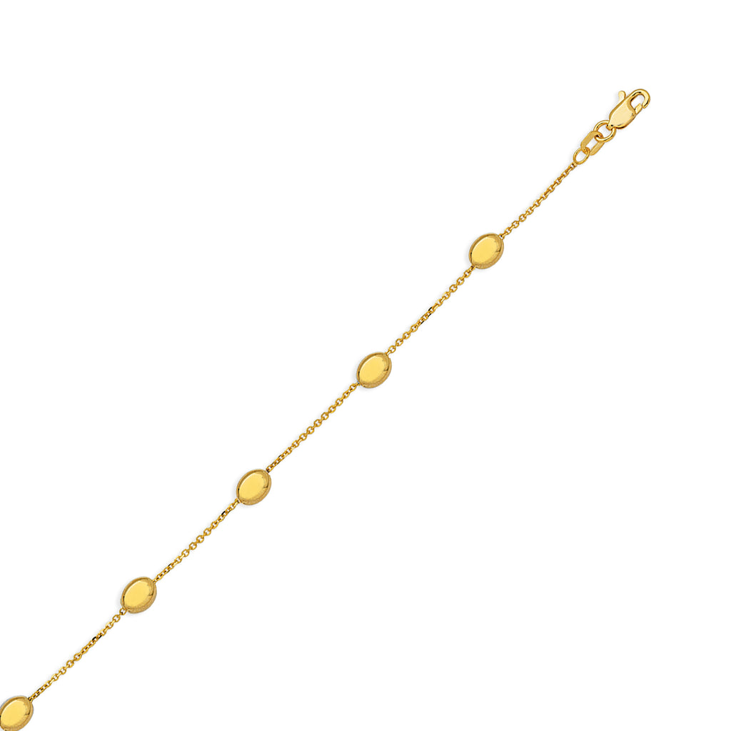 yellow gold p mariner anklet link