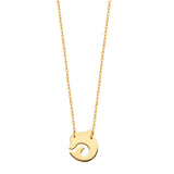 14k Yellow Gold Dolphin Necklace Adjustable Length - So You