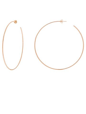 Hawley Street 14k Rose Gold Hoop Earrings 75mm with Post