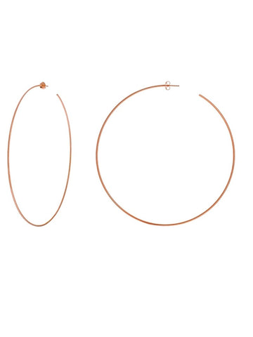 Hawley Street 14k Rose Gold Hoop Earrings 90mm with Post