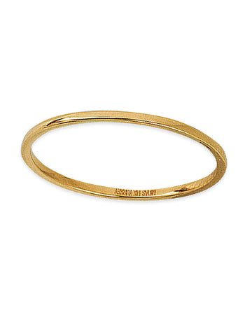 14k Yellow Gold Plain Thin Band Wedding Ring