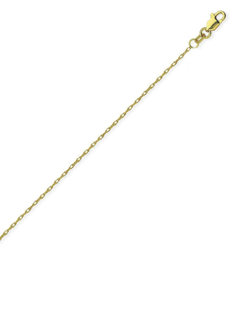 14k Yellow Gold Rope Chain Necklace 1.2mm