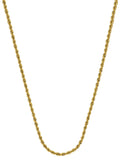 14k Yellow Gold Diamond-cut Rope Chain Necklace 1.05mm 025 Gauge