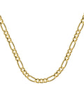 14k Yellow Gold Figaro Chain 100 Gauge 3.9mm Wide with Lobster Clasp