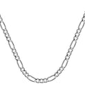 14k Whie Gold Figaro Chain 120 Gauge 4.75mm Wide with Lobster Clasp