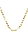 14k Yellow Gold Figaro Chain 080 Gauge 3.2mm Wide with Lobster Clasp