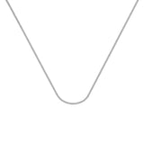 14k White Gold Franco Chain Necklace 1.1mm 030 Gauge