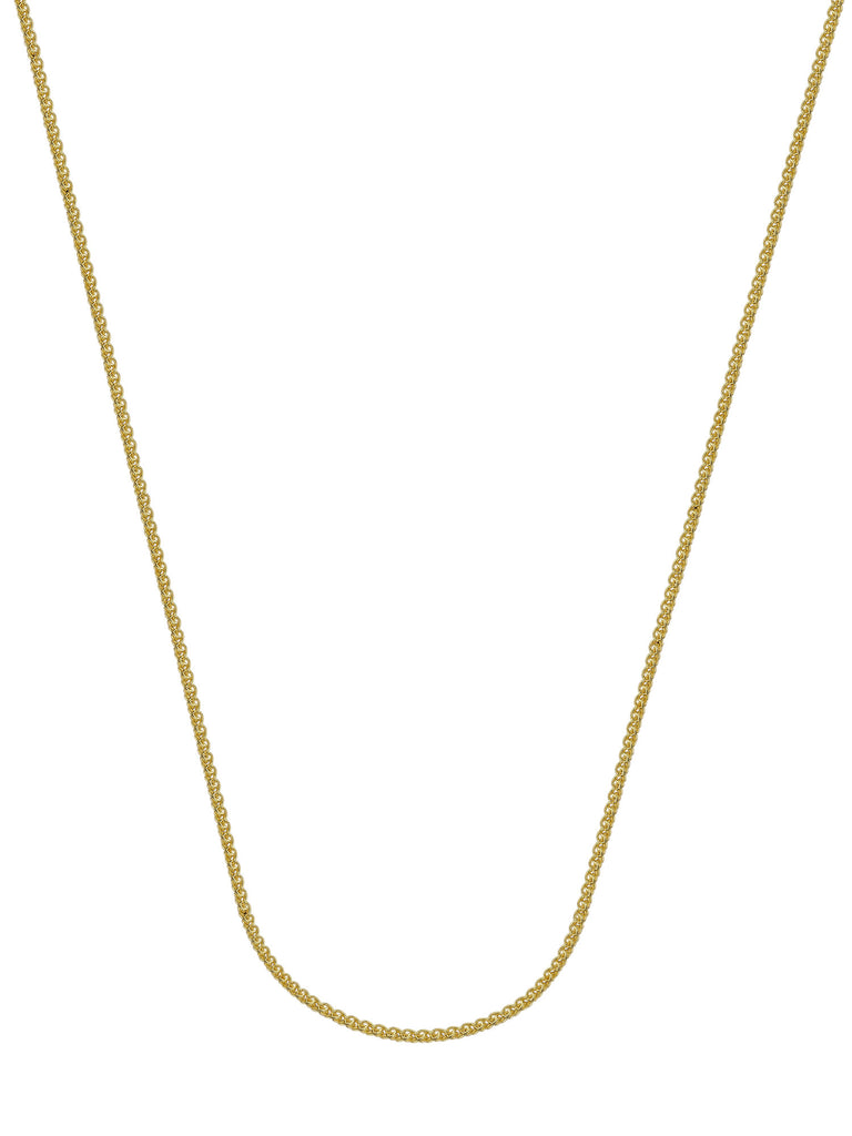 14k Yellow Gold Square Wheat Chain Necklace 0.85mm 020 Gauge