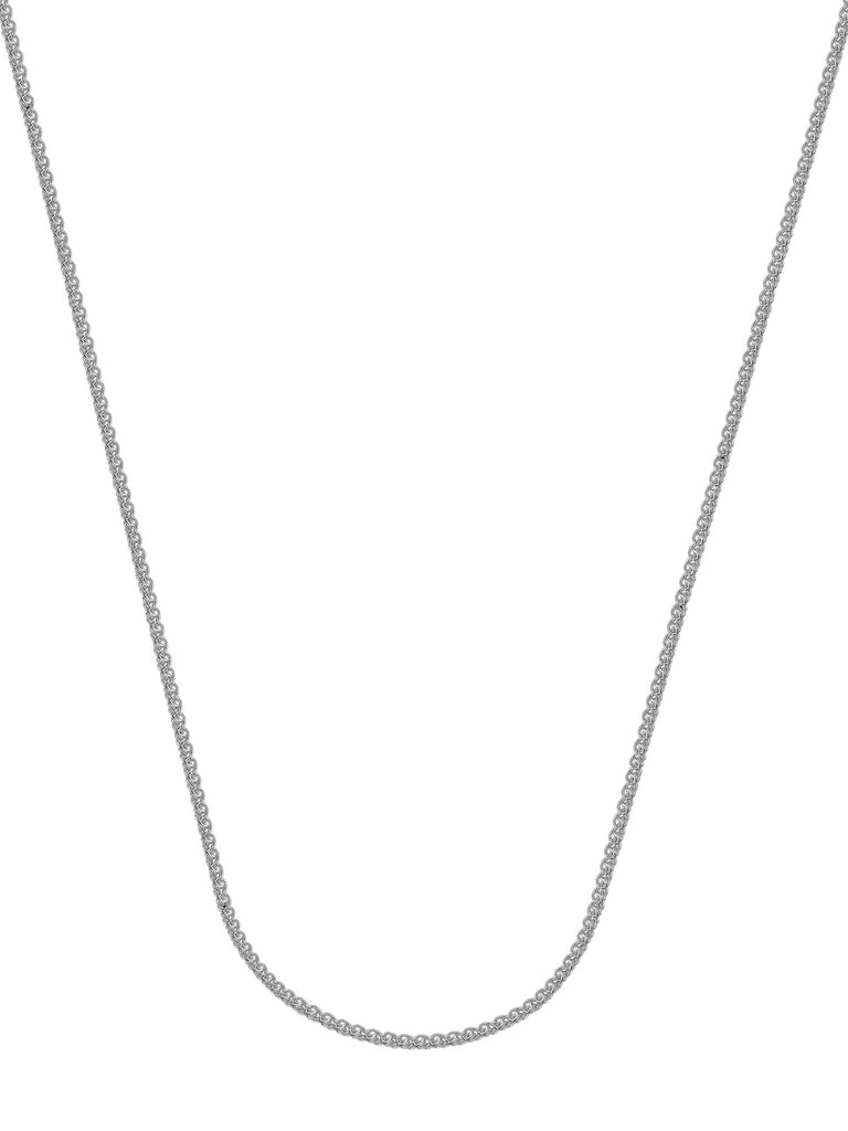 14k White Gold Wheat Chain Necklace 1.05mm 025 Gauge