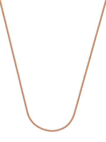 14k Rose Gold Wheat Chain Necklace 1.05mm 025 Gauge