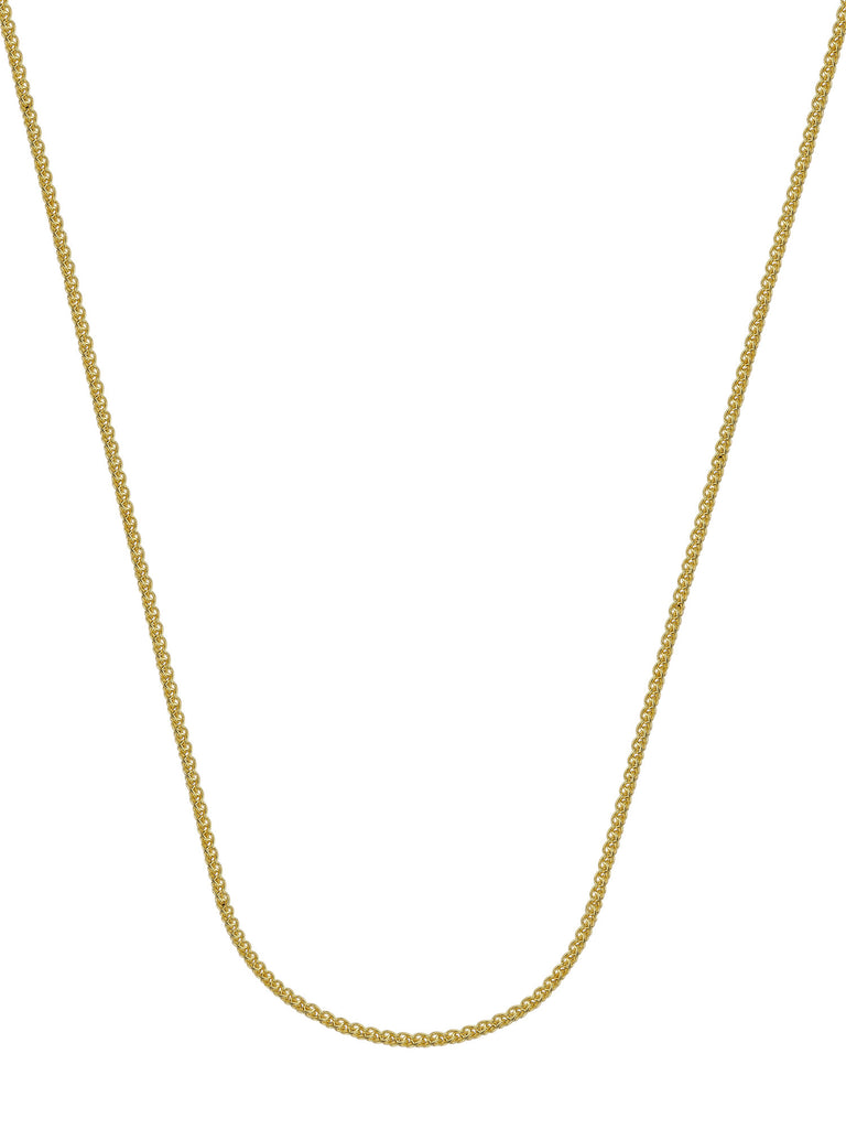 14k Yellow Gold Wheat Chain Necklace 1.05mm 025 Gauge