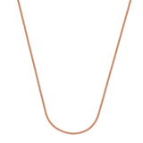 14k Rose Gold Wheat Chain Necklace 1.25mm 030 Gauge