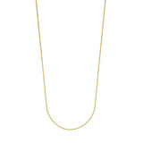 14k Yellow Gold Diamond-Cut Cable Chain 040 Gauge 1.5mm Wide with Lobster Clasp