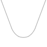 14k White Gold Diamond-Cut Cable Chain 050 Gauge 1.8mm Wide with Lobster Clasp