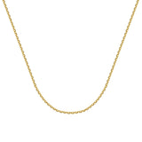 14k Yellow Gold Diamond-Cut Cable Chain 050 Gauge 1.8mm Wide with Lobster Clasp