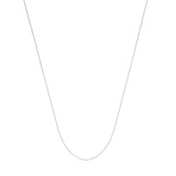 14k White Gold Box Chain 040 Gauge 0.55mm Wide