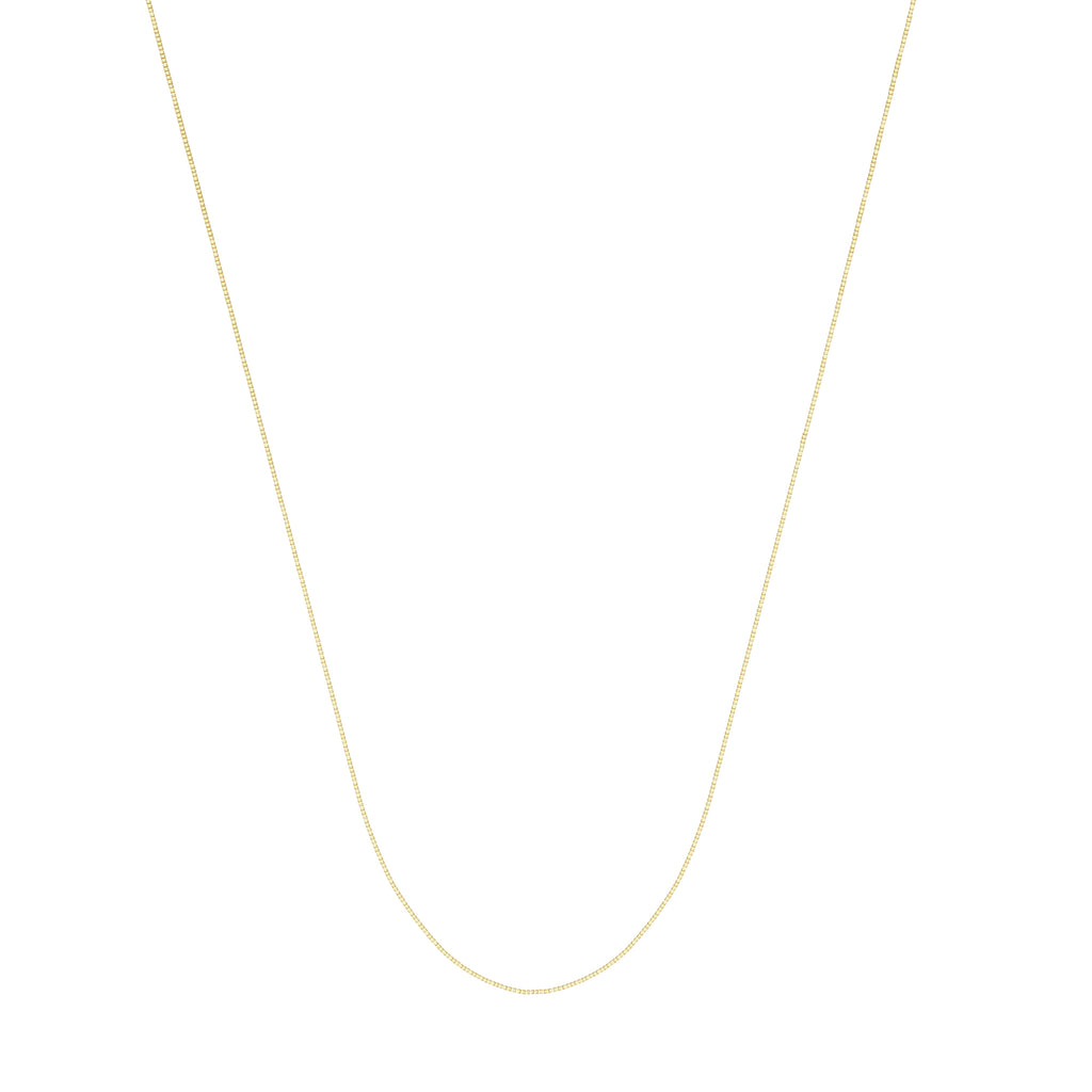 14k Yellow Gold Box Chain 040 Gauge 0.55mm Wide