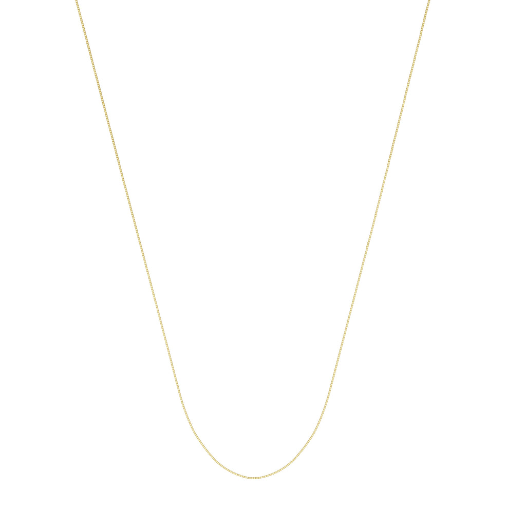 14k Yellow Gold Box Chain 030 Gauge 0.42mm Wide