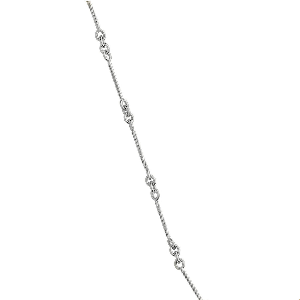 gold clarity bracelet chain and cttw i anklet diamond product color h white ankle