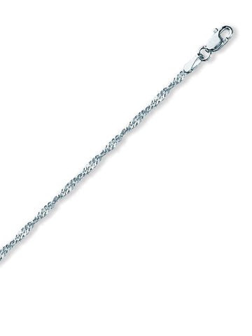 Sterling Silver Anklet Ankle Bracelet Singapore Chain Nontarnish 1.7mm