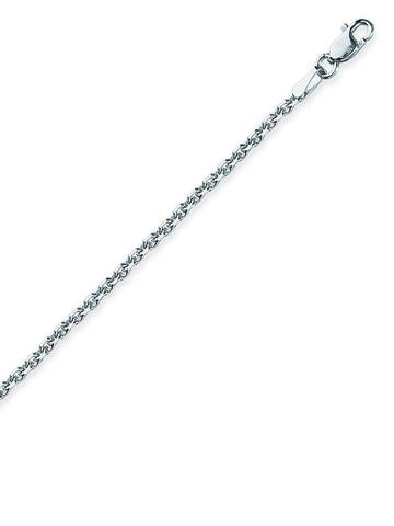 Sterling Silver Anklet Ankle Bracelet Diamond-cut Cabl Chain Nontarnish 1.25mm