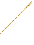 14k Yellow Gold Designer Rolo Chain Necklace 1.82mm 050 Gauge