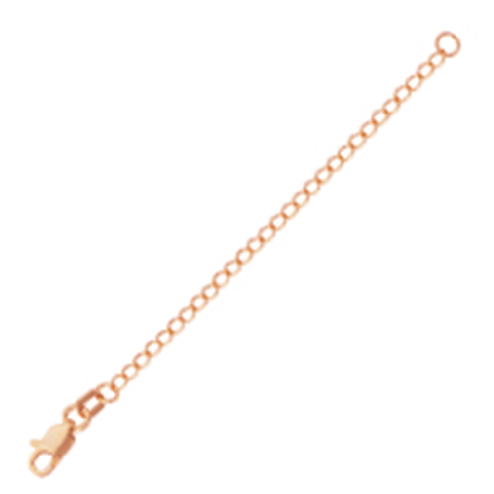 Extender Chain 3-inch Length Rose Gold-plated Sterling Silver