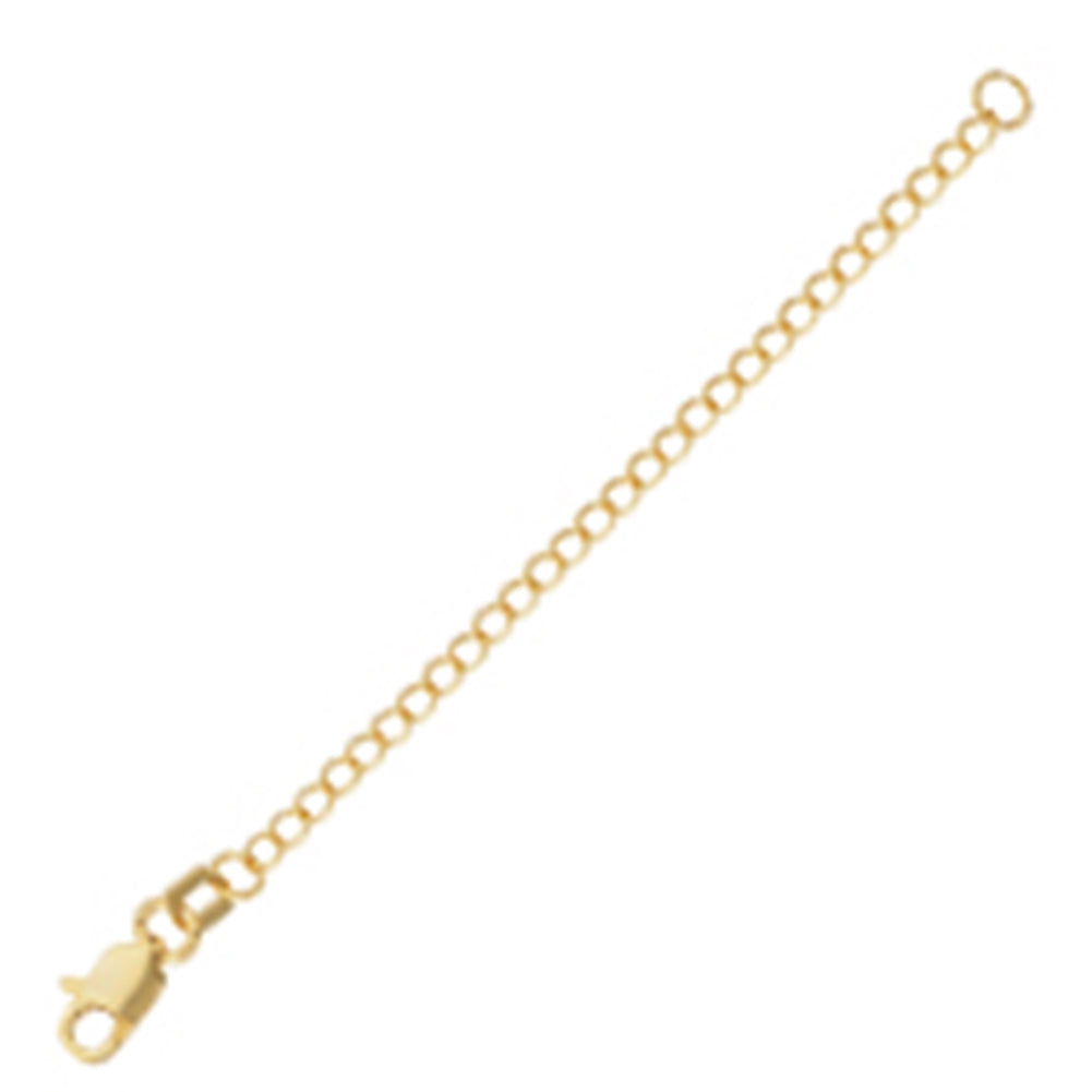 Extender Chain 3-inch Length Yellow Gold-plated Sterling Silver
