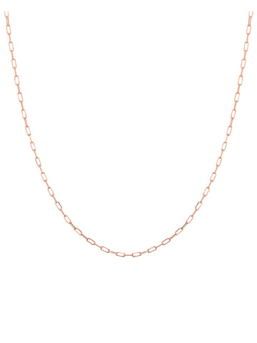 14k Rose Gold Diamond-cut Forsentina Chain 050 Gauge 1.95mm Wide Lobster Clasp