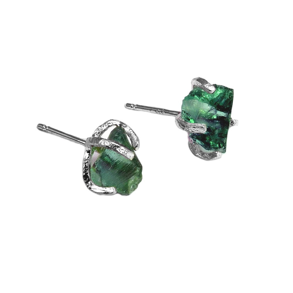 Ancient Roman Glass Post Earrings Sterling Silver