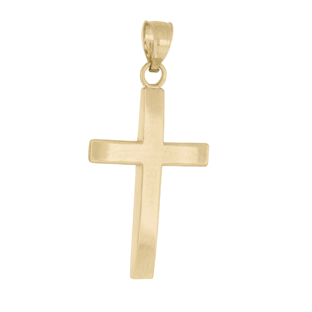 10k Yellow Gold Plain Cross Pendant