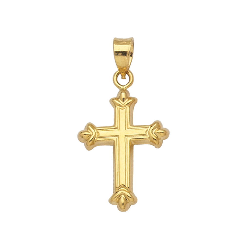 14k Yellow Gold Fleuree Cross Pendant, Pendant Only