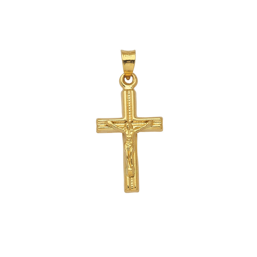10k Yellow Gold Crucifix Pendant Cross