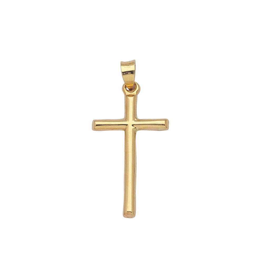 14k Yellow Gold Hollow 3D Cross, Pendant Only