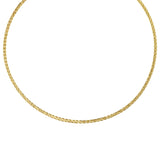 14k Yellow Gold Diamond-cut Omega Necklace