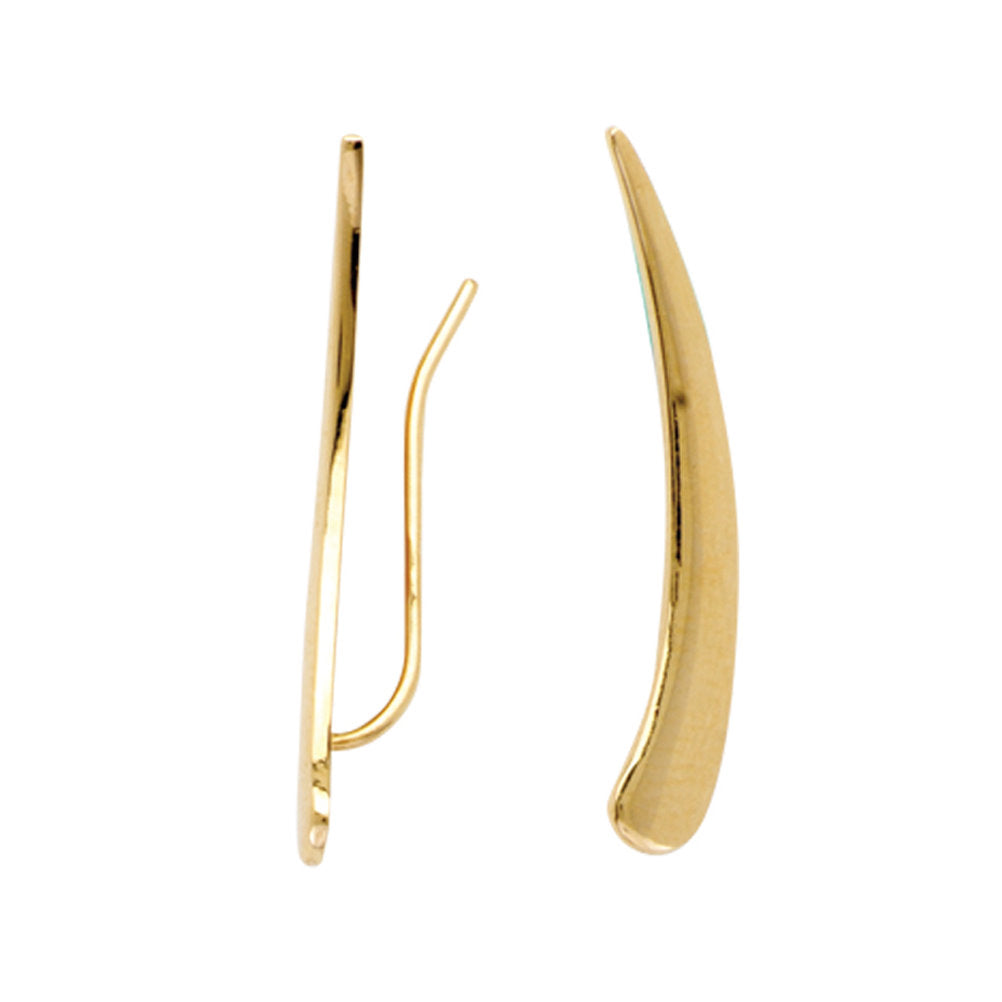 Ear Climber Cartilage Earrings 14k Yellow Gold
