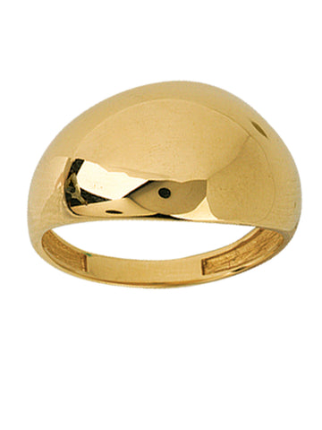 14k Yellow Gold Domed Band Ring Polished Graduated