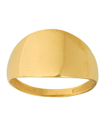 14k Yellow Gold Cigar Band Ring Polished Graduated