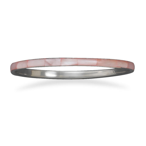 Pink Shell Fashion Bangle Bracelet