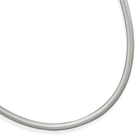 Wide Snake Chain Necklace 6mm 316L Surgical Steel