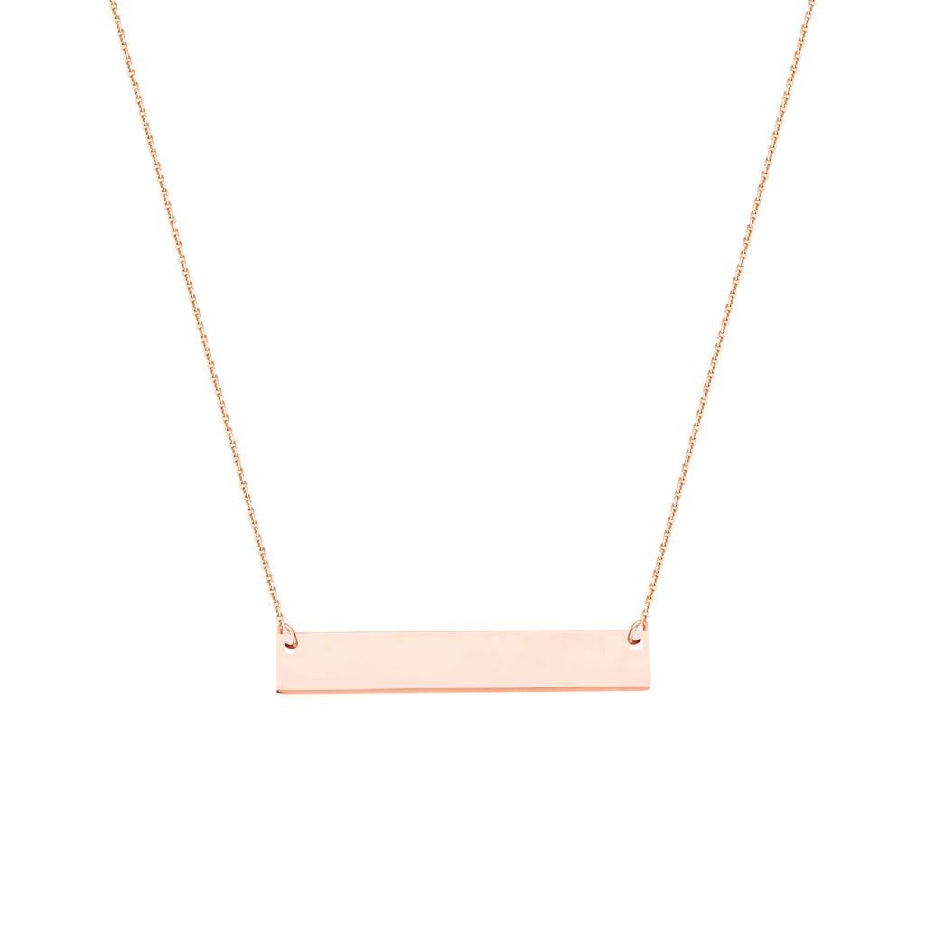 East 2 West Mini Bar Necklace Rose Gold-plated Sterling Silver Adjustable