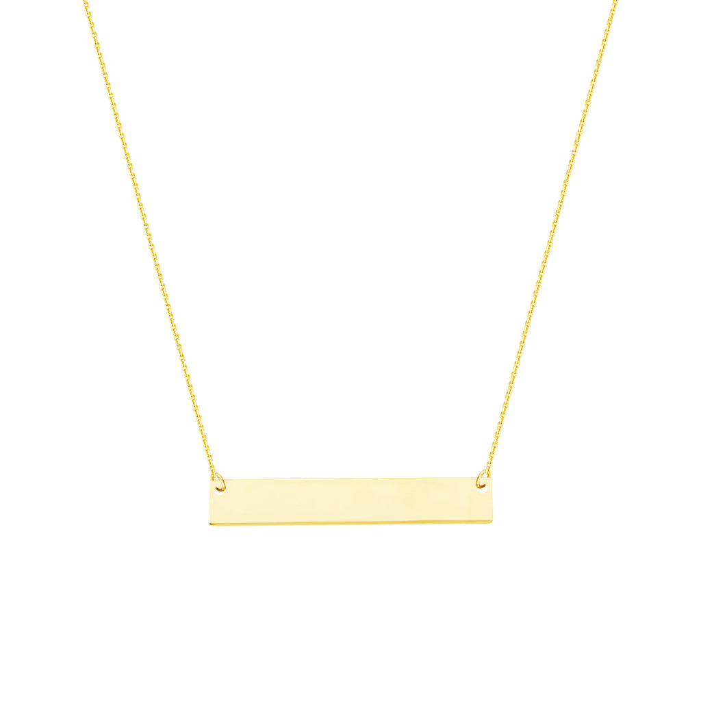 East 2 West Mini Bar Necklace 14k Yellow Gold Plated Adjustable Length