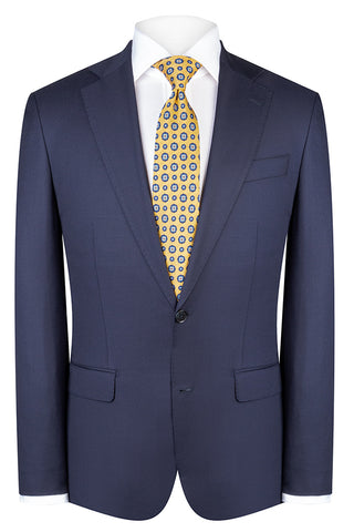 Blue Modern Twill Suit