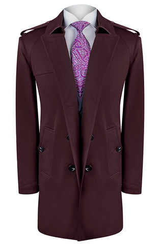 Burgundy Terreno Trench Coat